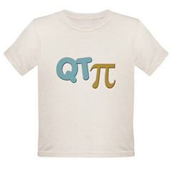 QT Pi (Cutie Pie) Organic Toddler T-Shirt