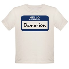 Hello: Damarion Organic Toddler T-Shirt