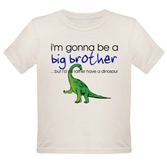 Gonna be big brother (dinosaur) Kids Organic Toddler T-Shirt