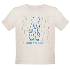Happy New Year Poodle Organic Toddler T-Shirt