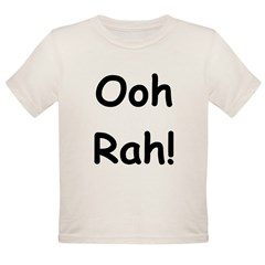 Ooh Rah Black Organic Toddler T-Shirt