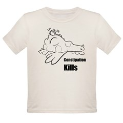 Constipation Kills! Sleeveless Chicken T-Shir Organic Toddler T-Shirt