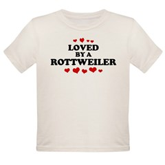 Loved: Rottweiler Organic Toddler T-Shirt