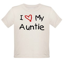 I Love My Auntie Organic Toddler T-Shirt