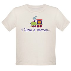 big brother secret train front/back Kids Organic Toddler T-Shirt
