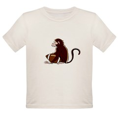 Football Monkey Organic Toddler T-Shirt