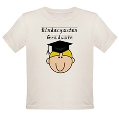 Boy Kindergarten Grad (blond) Organic Toddler T-Shirt