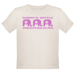 DADDY'S WITTLE WEEPUBLICAN Organic Toddler T-Shirt