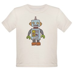 Robot Organic Toddler T-Shirt