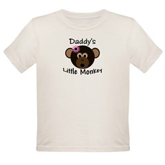 Daddy's GIRL Little Monkey Organic Toddler T-Shirt