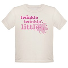 Twinkle Star Pink Organic Toddler T-Shirt