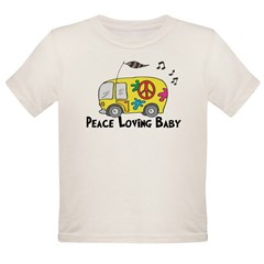 Peace Loving Baby Funny Baby/ Organic Toddler T-Shirt