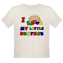 Love My Little Brother BRIGHT Organic Toddler T-Shirt