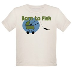 Born To Fish Organic Toddler T-Shirt
