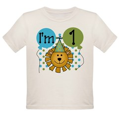 Lion 1st Birthday Organic Toddler T-Shirt