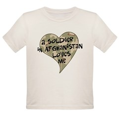 Afghanistan soldier love Organic Toddler T-Shirt
