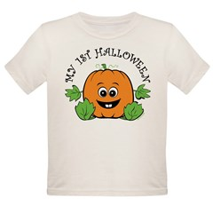 My First Halloween [Pumpkin] Organic Toddler T-Shirt
