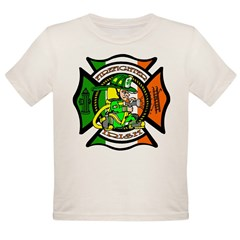 Firefighter-Irish Organic Toddler T-Shirt