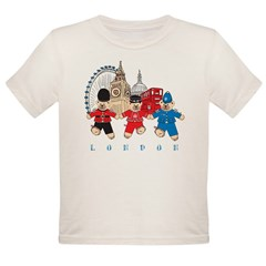 Teddy Holding Hands Organic Toddler T-Shirt