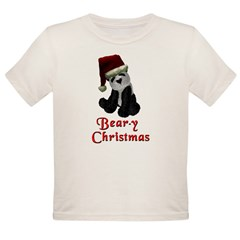 Bear-y Christmas Panda Organic Toddler T-Shirt