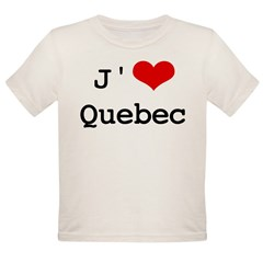 J' [heart] Quebec Organic Toddler T-Shirt