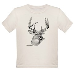 Whitetail Deer Organic Toddler T-Shirt