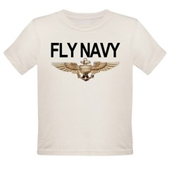 Fly Navy Wings Organic Toddler T-Shirt