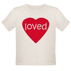 Red Loved Organic Toddler T-Shirt