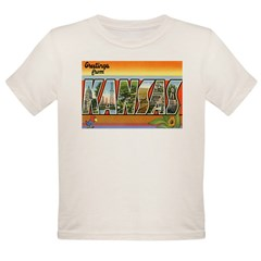 Greetings from Kansas Organic Toddler T-Shirt