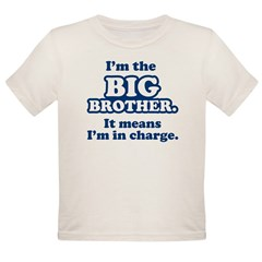Big Brother in Charge Organic Toddler T-Shirt