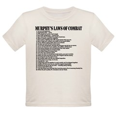 Murphy's Laws of Comba Organic Toddler T-Shirt