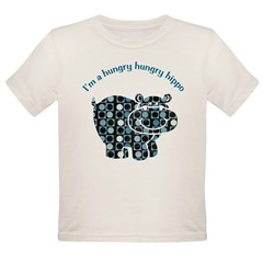 I'm a hungry hungry hippo Organic Toddler T-Shirt