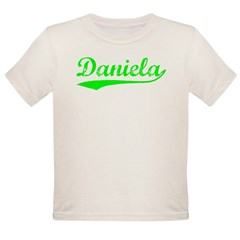 Vintage Daniela (Green) Organic Toddler T-Shirt