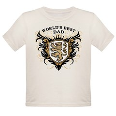 World's Best Dad Organic Toddler T-Shirt