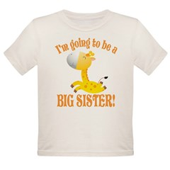 Big Sister Giraffe Organic Toddler T-Shirt