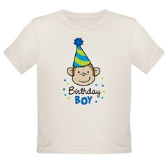 Birthday Boy - Monkey Organic Toddler T-Shirt