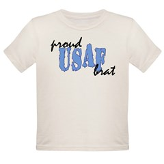 cp proud usaf brat blue Organic Toddler T-Shirt