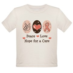 Peace Love Hope For A Cure Organic Toddler T-Shirt