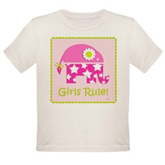 Girls Rule! Elephant Organic Toddler T-Shirt