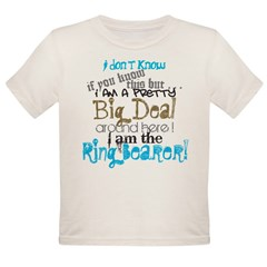 Big Deal Ring Bearer Organic Toddler T-Shirt
