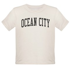 Ocean City New Jersey NJ Black Organic Toddler T-Shirt