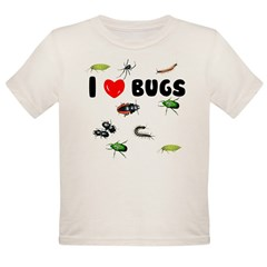 I Love Bugs () Organic Toddler T-Shirt