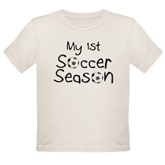My First Football Season Organic Toddler T-Shirt