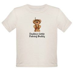 Daddy's Fishing Buddy Organic Toddler T-Shirt