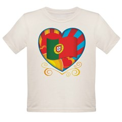 Portugese Heart Organic Toddler T-Shirt