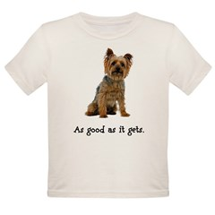 Good Silky Terrier Organic Toddler T-Shirt