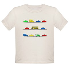 Cars! Cars! Cars! Organic Toddler T-Shirt