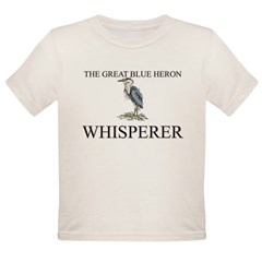 The Great Blue Heron Whisperer Organic Toddler T-Shirt