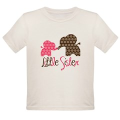 Little Sister Elephant Organic Toddler T-Shirt