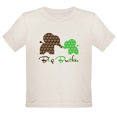 Big Brother Elephan Organic Toddler T-Shirt